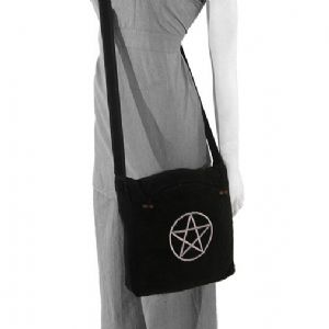 Bag~ Hippy Bohemian Pagan Wiccan Pentacle Black and White Bag~ By Folio Gothic Hippy NP100